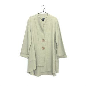 Focus Casual Life Cotton Waffle Swing Jacket Green